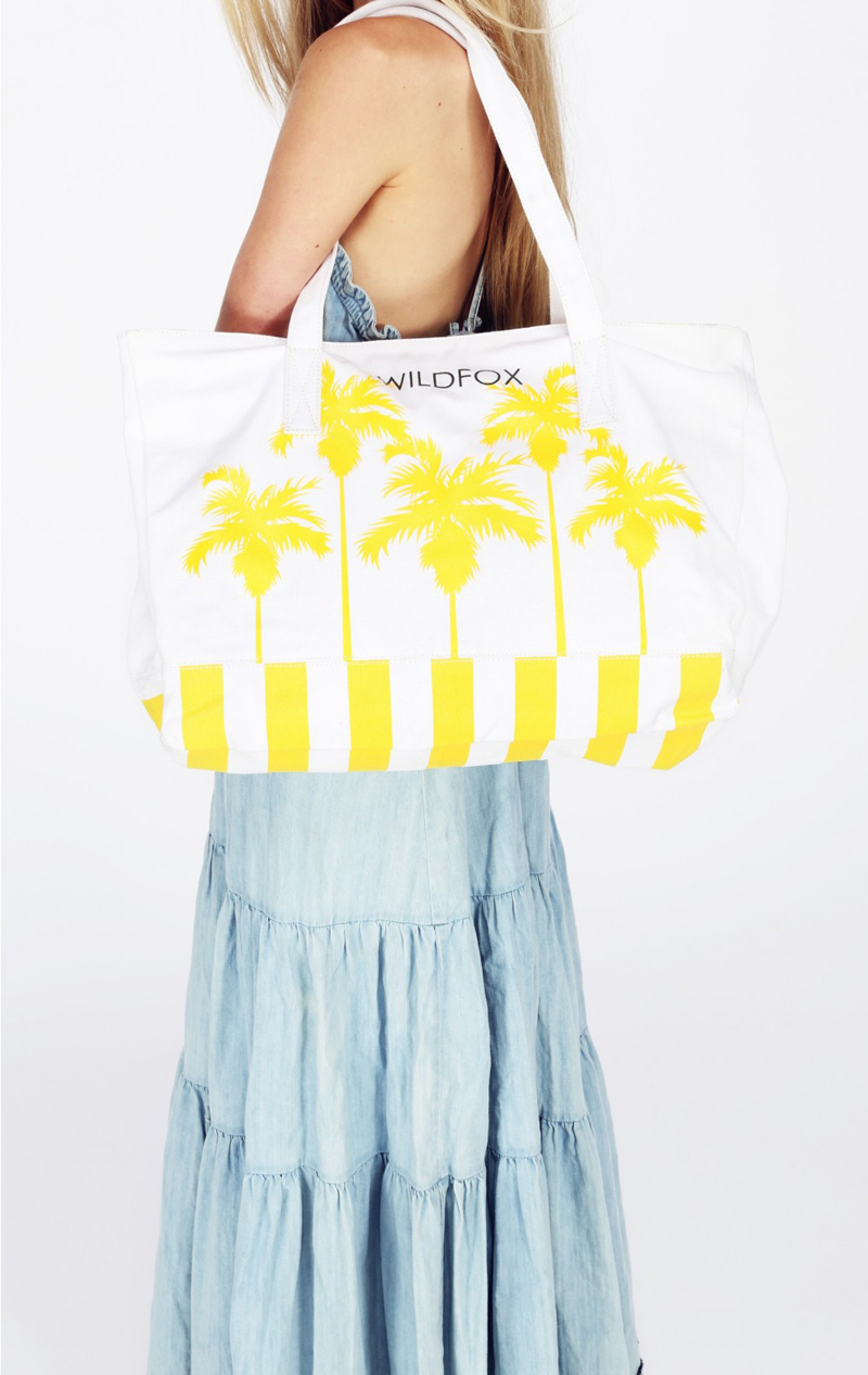 Wildfox Bel Air Palms Canvas Tote Bag