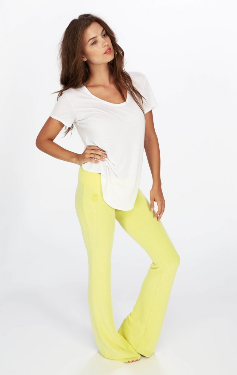 Wildfox Essentials Tennis Club Pants Sunlight yellow