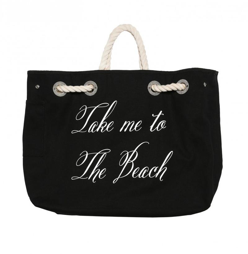 Wildfox TAKE ME ON VACATION COPA CLUB BEACH BAG reversible black side