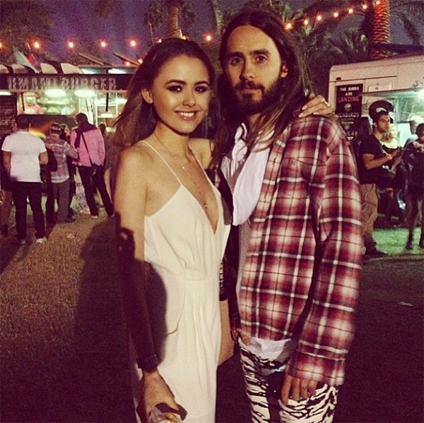Jared Leto and Kristina Bazan (who wears the Dream on Jumpsuit by Finders Keepers)