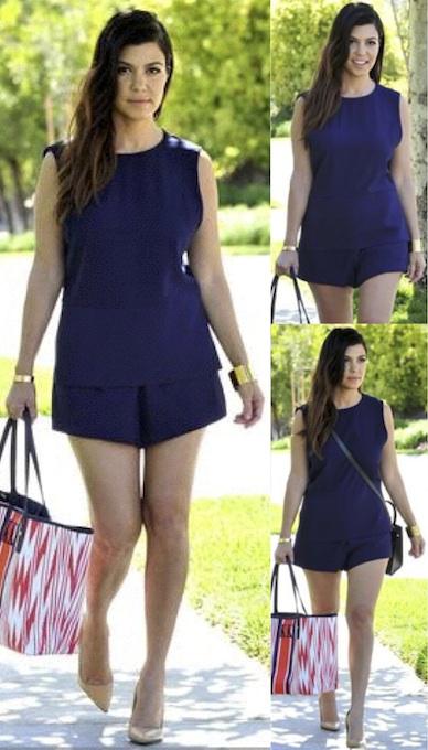Kourtney Kardashian in the Inner Light Playsuit