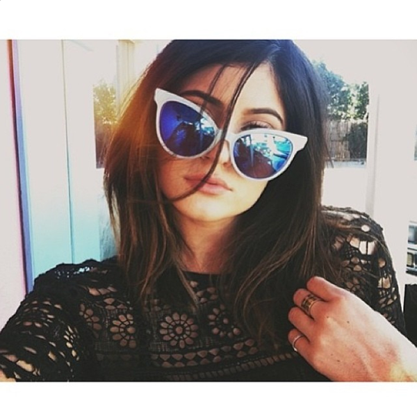 Kylie Jenner in the Wildfox Sun Le Femme Deluxe Frame