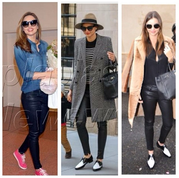 Miranda Kerr loves Genetic Denim. She's been spotted on several occasions in her Shya in leather.