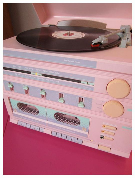 pastel record player