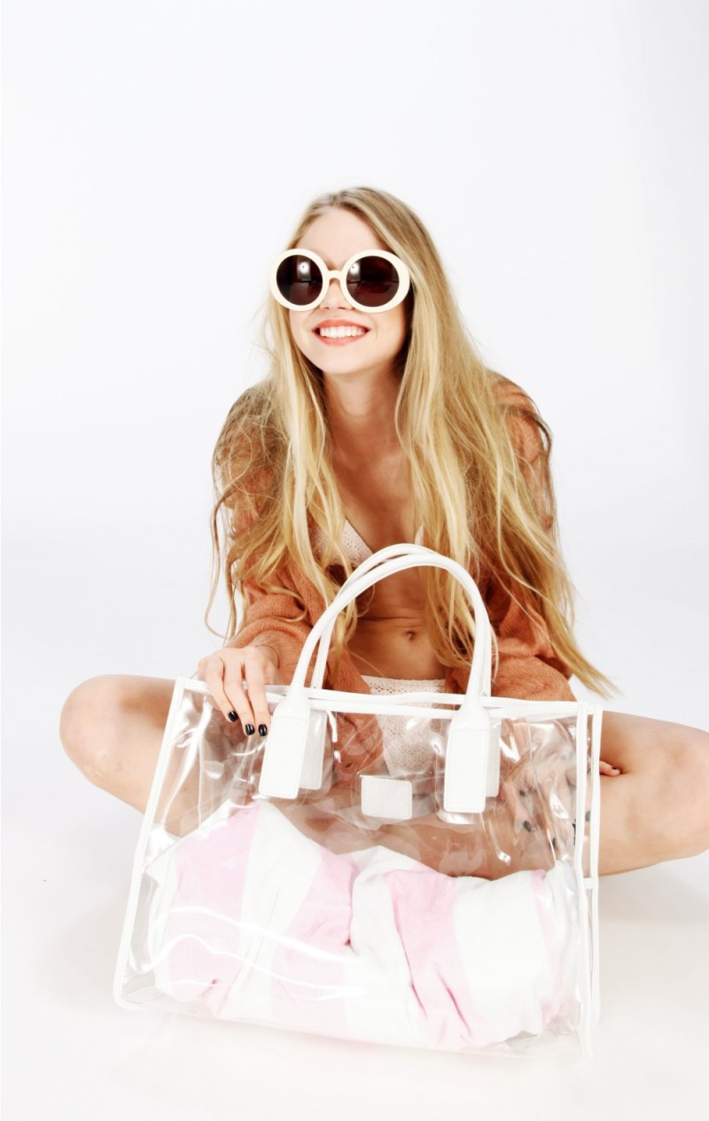 wildfox sun and original fox vinyl tote bag