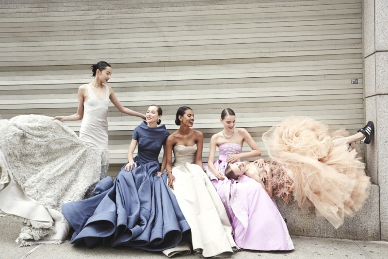 Ball Gowns Charles James and adidas trainers