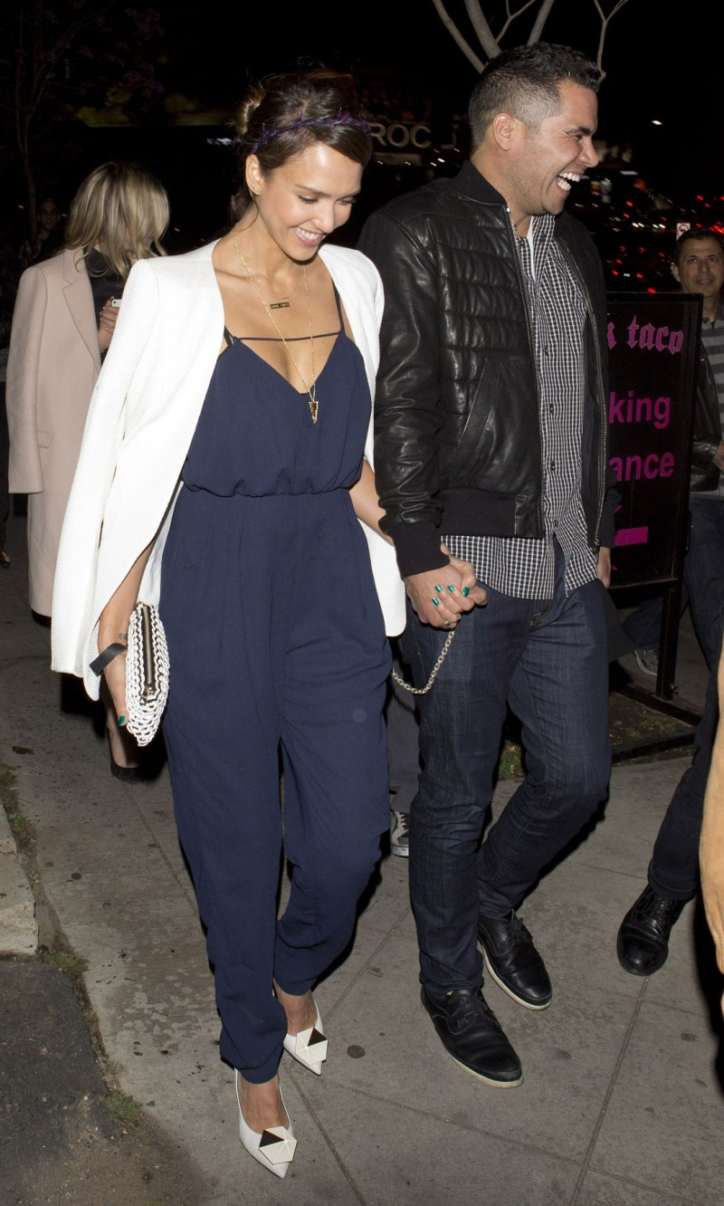 Jessica Alba in Finders Keepers Jumpsuit