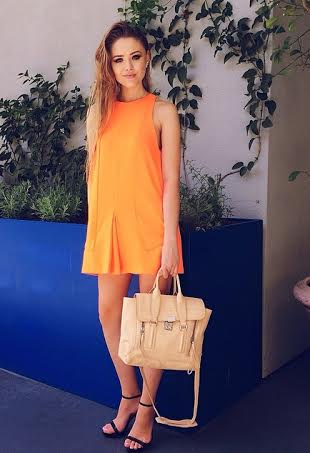 Kristina Bazan in the No One Like You Dress by Finders Keepers