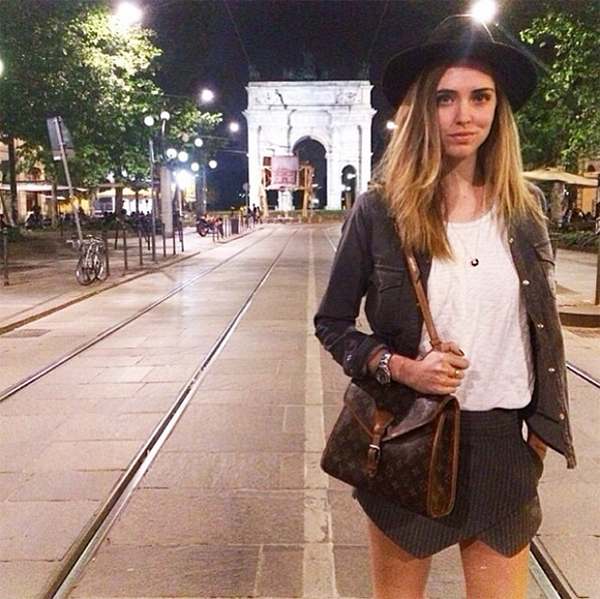 Chiara Ferragni of The Blonde Salad in the LNA Anja Tank