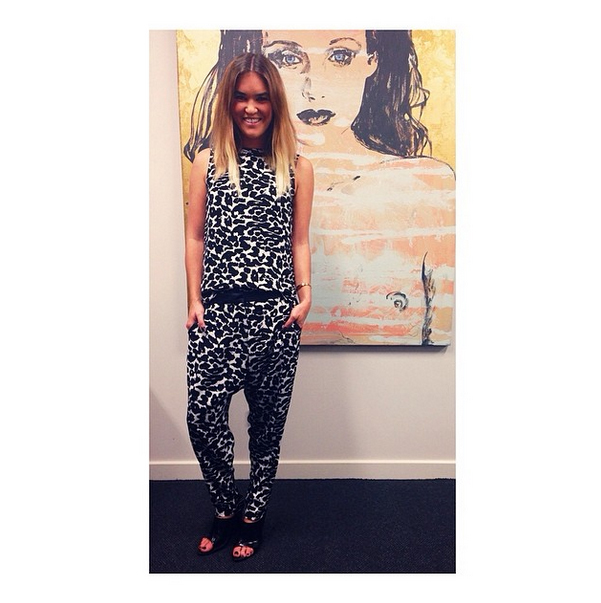 Finders Keepers Head Designer Kate Anderson in the First Light Top and the Begin Again Pant