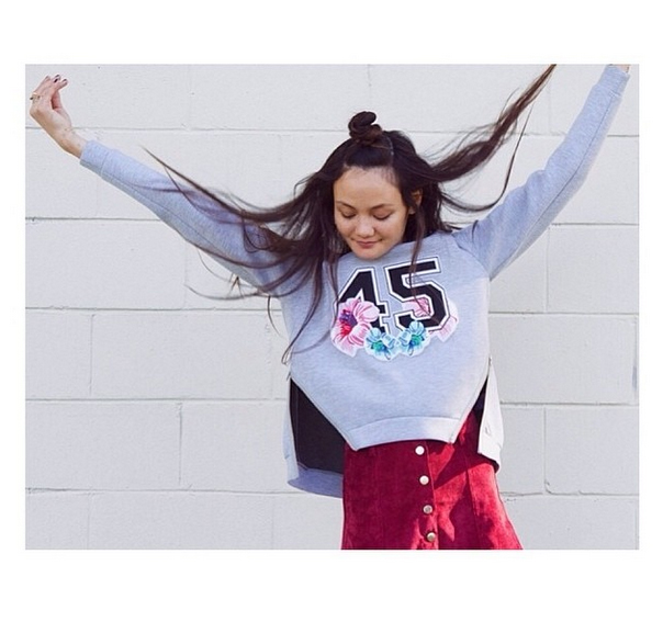 Rachel Rutt wears the For You Jumper