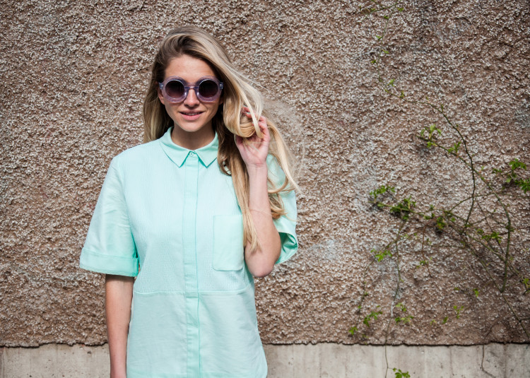 Girl In Menswear wearing the Wildfox Twiggy Sunglasses