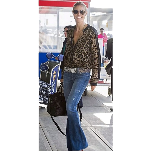Heidi Klum wearing the Genetic Denim Leaf in Splash