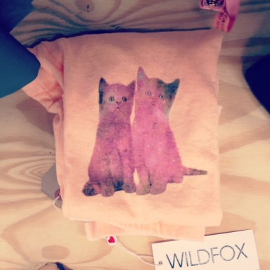 Wildfox cat sweat pants Boxpark Pop Up