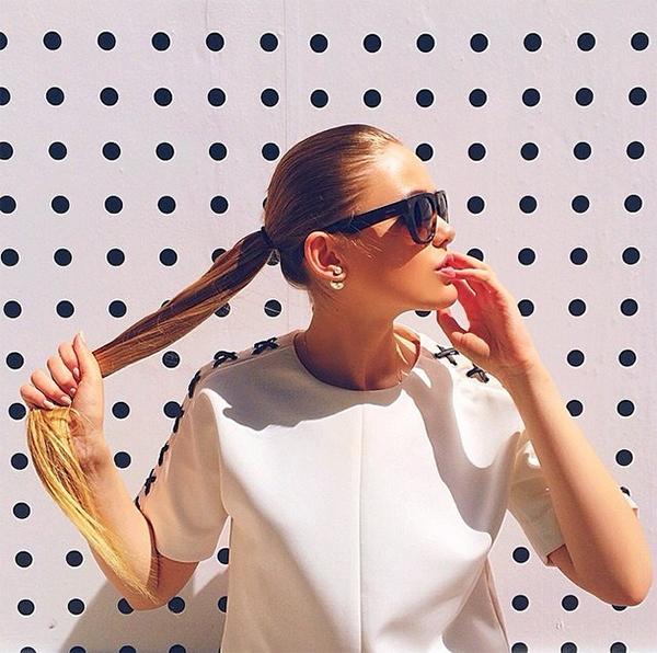 Kristina Bazan in the Sleeve Wonderland Top