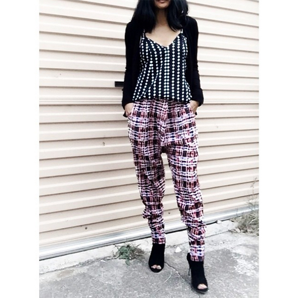 Lyn Borg in the Dreamweaver Pant and a top by new Australian label The Fifth