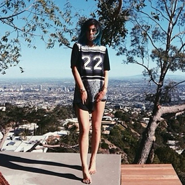 Kylie Jenner in the Good Fortune Dress