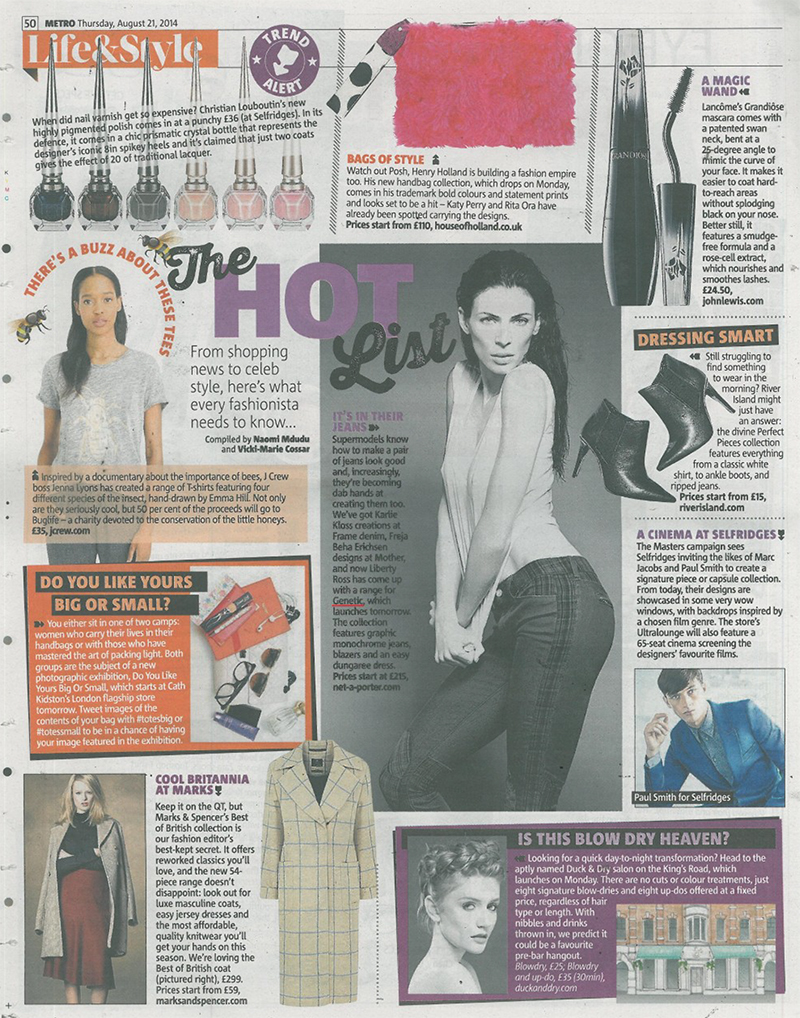 Metro 21.08.2014 GENETIC Liberty Ross